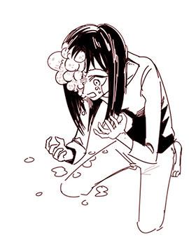 女孩与面疮